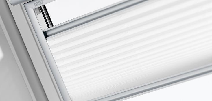VELUX Plissee in Standard 1016 Weiß für GGL-GGU-GPL FHL Rollo Faltrollo