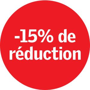 -15% de reduction