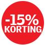 15 procent korting